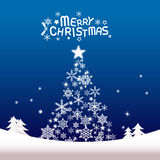 圣诞快乐和新年好,圣诞树 免版税库存图片