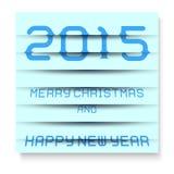 2015年圣诞快乐和新年好,窗帘的作用 10 eps 免版税库存照片