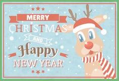 圣诞快乐和新年好 拟订圣诞节收集问候varios 库存图片