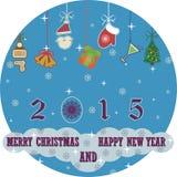 圣诞快乐和新年好2015年背景 库存图片