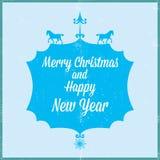 圣诞快乐和新年好2014年 图库摄影