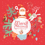 圣诞快乐和新年好! 库存图片