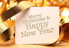 圣诞快乐和新年好 图库摄影