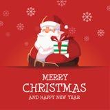 圣诞快乐和新年快乐圣诞老人 图库摄影