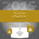 圣诞快乐和新年快乐2015年! 免版税库存照片