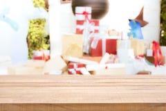 圣诞快乐和节日快乐概念 许多礼物盒o 图库摄影