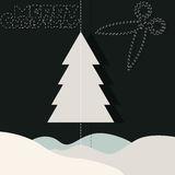圣诞快乐和雪 免版税库存图片