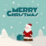 圣诞快乐圣诞老人和礼物 库存图片