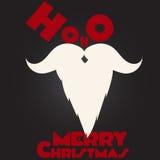 圣诞快乐圣诞老人` s髭和胡子 免版税库存照片