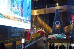 圣诞快乐在晚上 免版税库存图片
