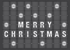 圣诞快乐在机场Flipboard样式的假日问候 免版税图库摄影