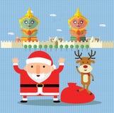 圣诞快乐在泰国 免版税图库摄影