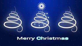 圣诞快乐在简单派样式的贺卡 向量例证