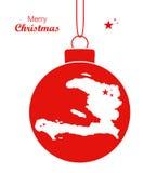 圣诞快乐地图海地 免版税库存照片