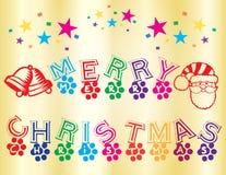 圣诞快乐墙纸 免版税库存图片