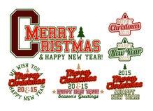 圣诞快乐大学运动代表队 免版税图库摄影