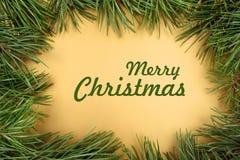 圣诞快乐大家贺卡 库存图片