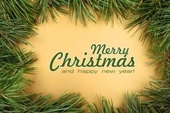圣诞快乐大家贺卡 免版税图库摄影