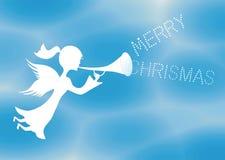 圣诞快乐天使 库存图片