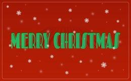 圣诞快乐字法贺卡 库存例证