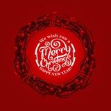 圣诞快乐字法 图库摄影