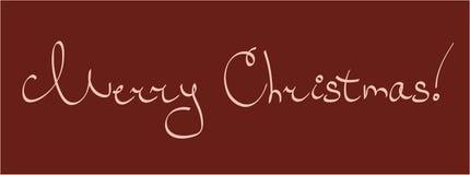 圣诞快乐字法 库存例证