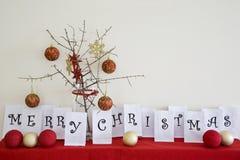 圣诞快乐安排 免版税库存图片