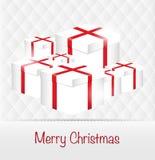 圣诞快乐干净的设计贺卡背景 免版税库存图片