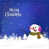 圣诞快乐庆祝的逗人喜爱的雪人 库存图片