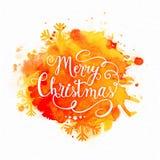 圣诞快乐庆祝的贺卡 免版税库存照片