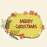 圣诞快乐庆祝的贺卡 库存图片