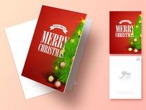 圣诞快乐庆祝的贺卡 免版税库存图片