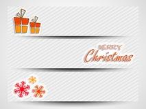 圣诞快乐庆祝网倒栽跳水或横幅集合 向量例证