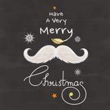 圣诞快乐庆祝贺卡设计 库存图片