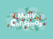 圣诞快乐当代贺卡 免版税图库摄影