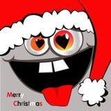 圣诞快乐微笑 免版税库存图片