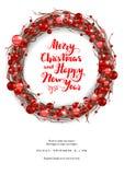 圣诞快乐愉快的卡片 向量例证