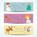 圣诞快乐愉快的伴侣横幅 免版税图库摄影