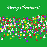 圣诞快乐戏弄明信片 库存例证
