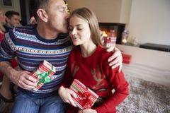 圣诞快乐我的女孩! 免版税库存图片