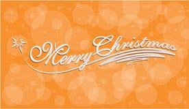 圣诞快乐手字法贺卡 库存照片