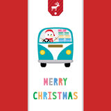 圣诞快乐招呼的card37 免版税库存照片