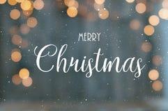 圣诞快乐文本 库存图片