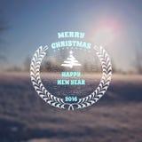 圣诞快乐权威和标签其中任一的使用 库存图片