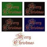 圣诞快乐标签或标题 库存照片
