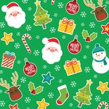 圣诞快乐样式传染媒介 库存照片