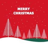 圣诞快乐森林传染媒介 库存例证