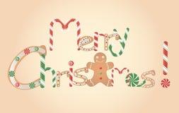 圣诞快乐横幅 免版税库存照片