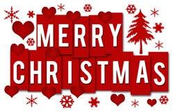 圣诞快乐浪漫红色条纹 库存图片