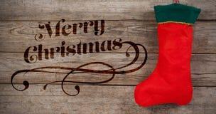 圣诞快乐消息的综合图象 库存照片